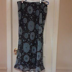 Cato Fully Lined Chiffon Maxi Skirt